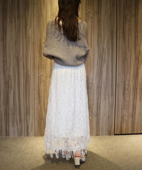 french flare sleeve  knit