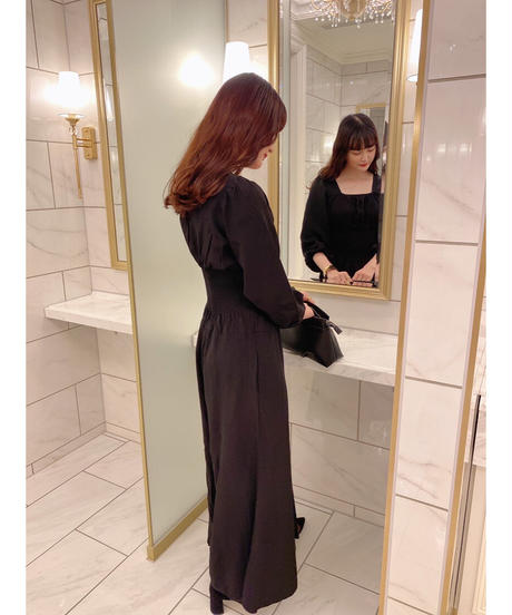 waist shirring all-in-one