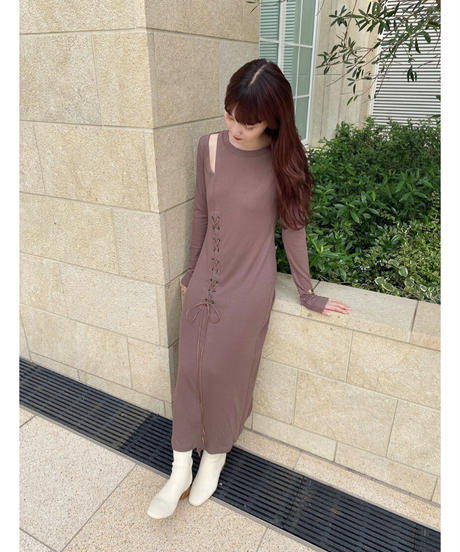 Acka original rib knit one-piece
