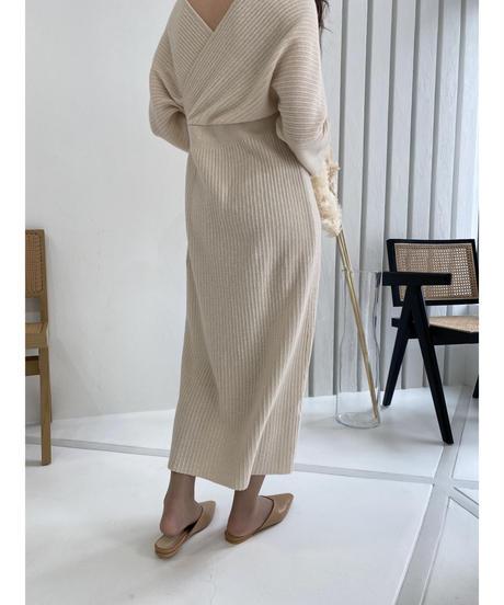 Rib knit one-piece
