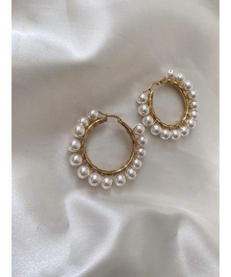 Pearl wire pierce