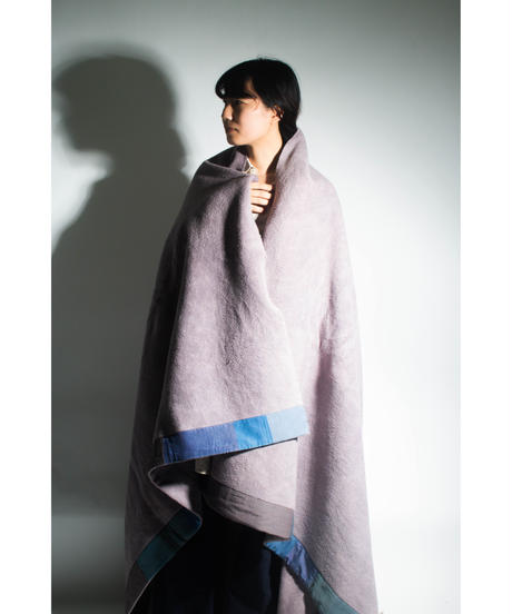 31.Organic cotton Blanket /Purple gray