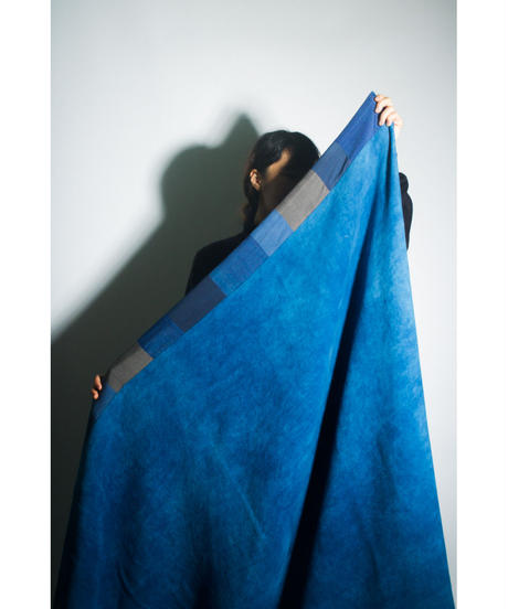 31.Organic cotton Blanket /Indigo