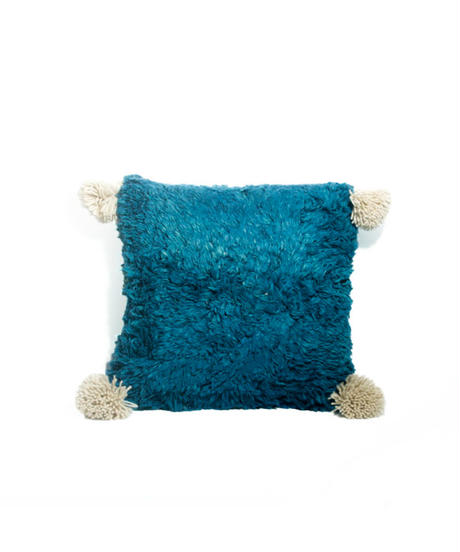 18.Cushion Cover S/ Patch work・Blue×Green (35×35)