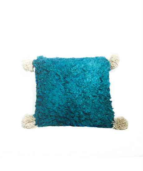 15.Cushion Cover S/ Patch work・Blue×Green (35×35)