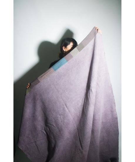 33.Organic cotton Blanket /Purple gray