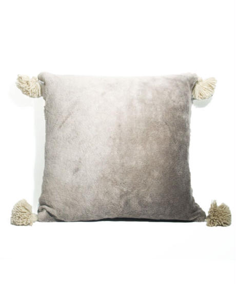 10.Cushion Cover M/ Patch work・Gray  (45×45)