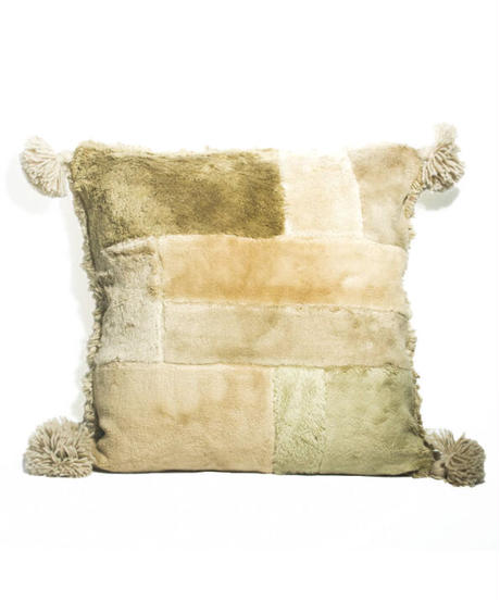 11.Cushion Cover M/ Patch work・Beige(45×45)