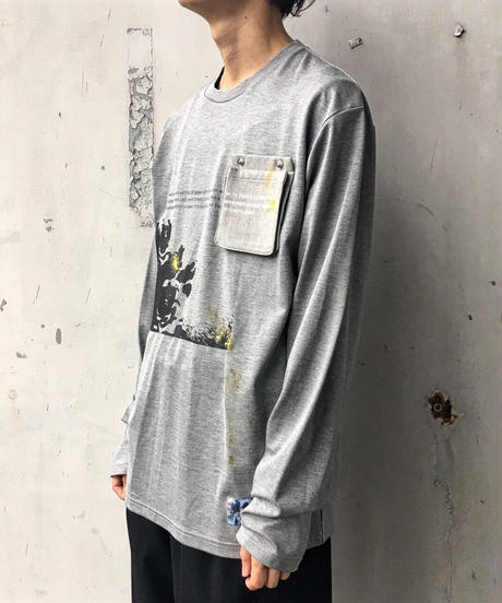 【1点物】KONYA×CILANDSIA ロンT & paintMask Special Edition / GRAY