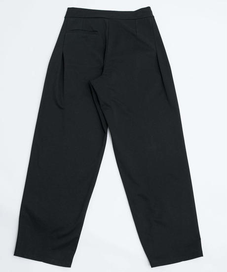 Flat double Pants  / BLACK【2020ss】