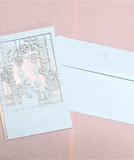 クリスマスカード COVENT GARDEN 切り絵&アコーディオンカード(雪だるま)