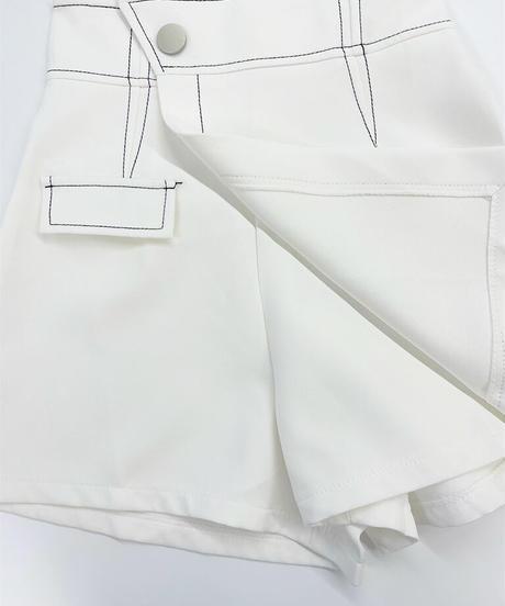 ラップスカート風ショートパンツ