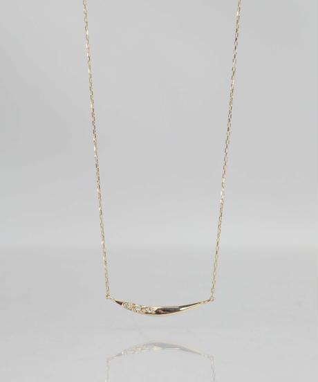 【anq.】K10・「meteor」0.01ctダイヤモンド ネックレス