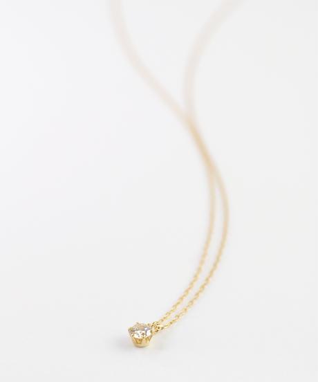 【anq.】K18イエローゴールド  0.1ctダイヤモンド ネックレス