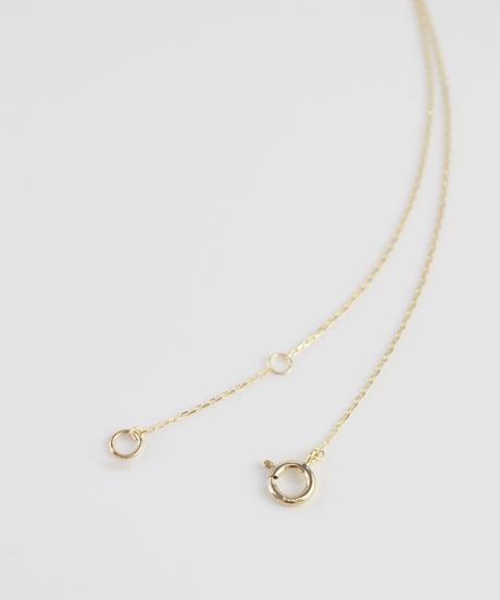 【anq.】K10・ダイヤモンド ミル打ちネックレス