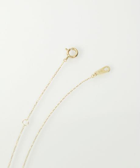 【anq.】K10・ダイヤモンドプチネックレス(ティアドロップ)