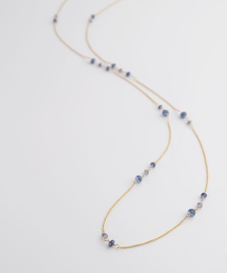 【anq.】K14GF・カイヤナイトドロップネックレス