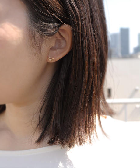 【anqanq.】K10 ribbon ピアス