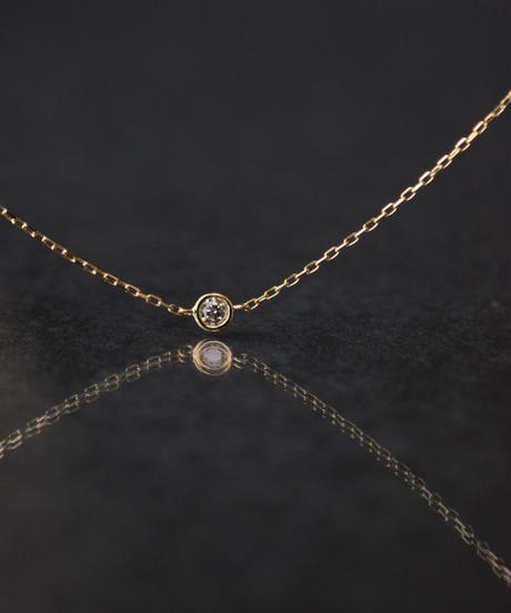 【anq.】K18・ダイヤモンド ベゼルブレスレット