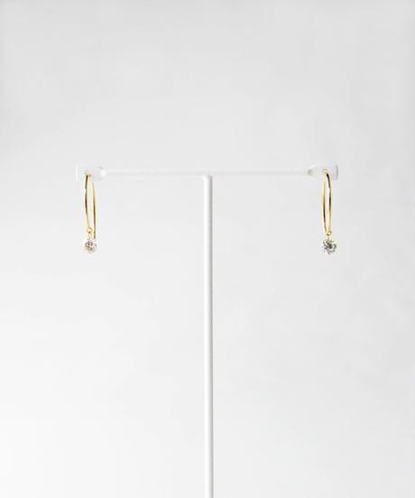 【anq.】K18・0.2ctダイヤ スイングピアス