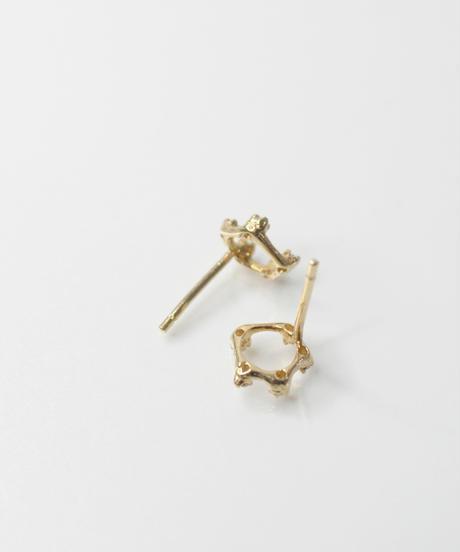 【n+a new york】K14  0.09ct ダイヤモンドサークレットピアス