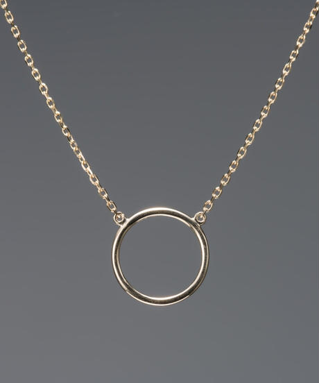 【anqanq.】K10 circle ネックレス