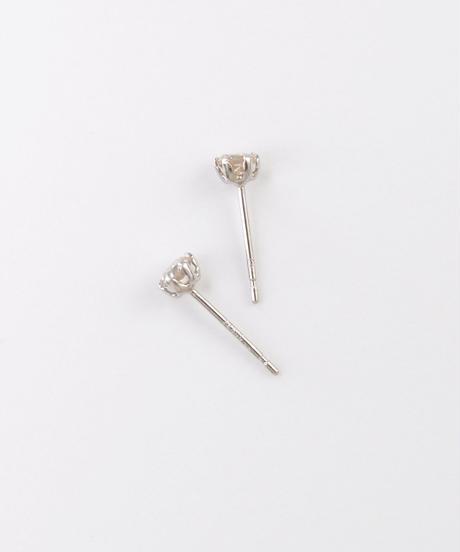 【anq.】 Pt900・0.3ctダイヤモンド ピアス