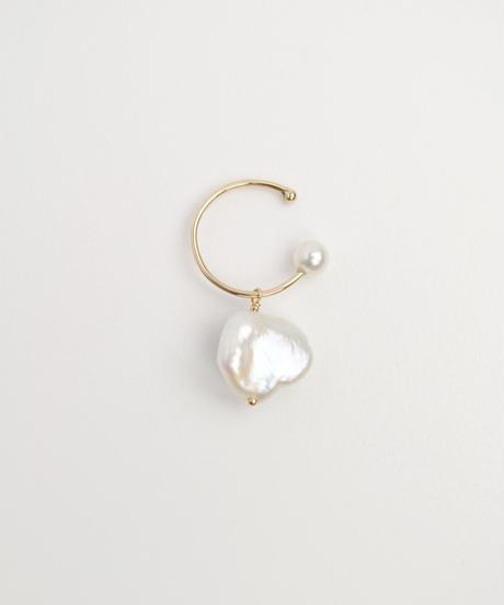 【anq.】K10・Pearl point イヤカフ 片耳 (ケシパール)
