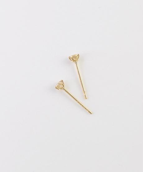 【anqanq.】K18 ダイヤモンド0.1ct スタッドピアス