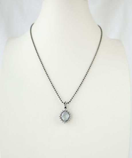 【MARGO MORRISON】アクアマリン/ダイヤモンド  ペンダントトップ
