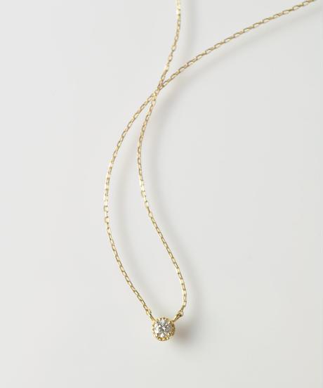 【anq.】 K18・0.05ct ダイヤモンド ネックレス「Stella」