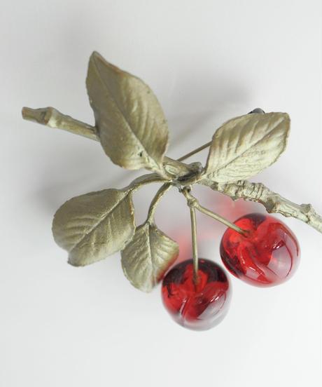 【MICHAEL MICHAUD】Morello'Cherry ブローチ