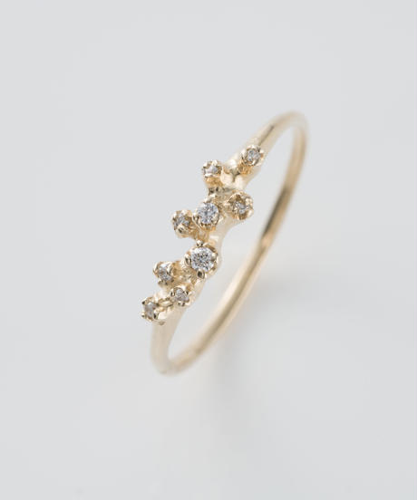 【n+a new york】K14  0.059ct クラシックダイヤモンドクラスターリング