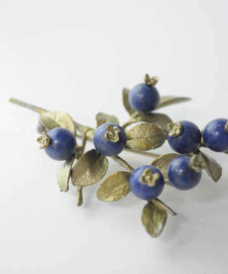 【MICHAEL MICHAUD】blueberry ブローチ