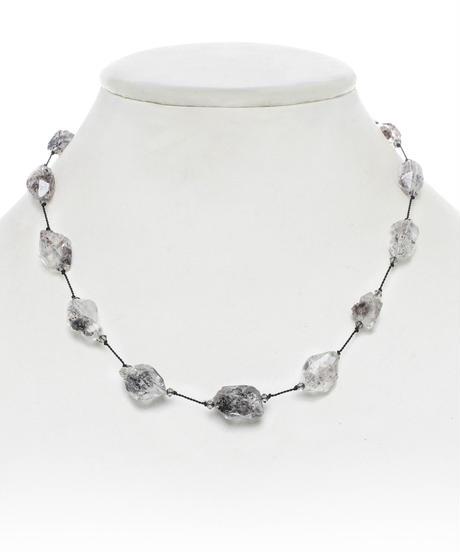【MARGO MORRISON】ハーキマーダイヤモンド ショートネックレス(ブラックコード)