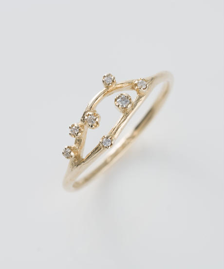【n+a new york】K14  0.043ct ダイヤモンドオープンクラスターリング