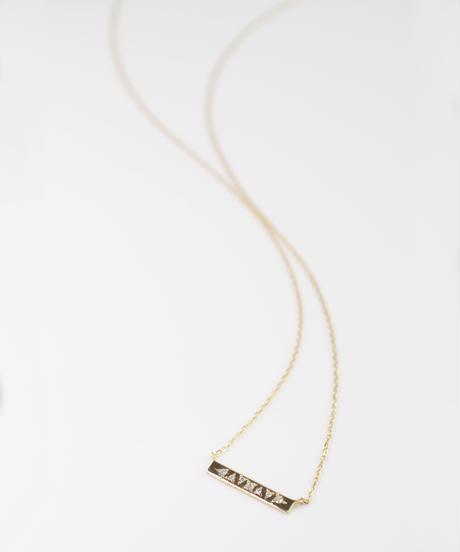 【anq.】K10・ 0.04ctダイヤモンド 彫り留めネックレス