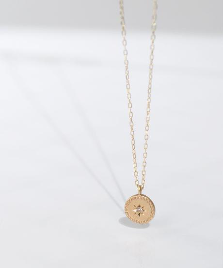 【anq.】K10・ダイヤ スターセッティングネックレス