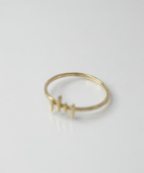 【LIO and LINN】K14 Gate Wave RING