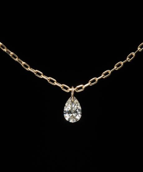【anq.】K18・0.05ct ティアドロップダイヤモンド  ネックレス