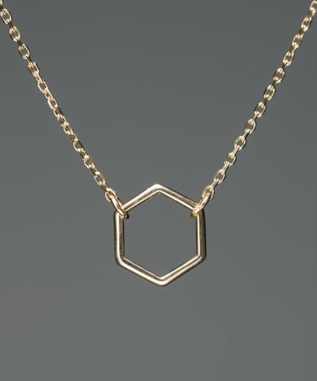 【anqanq.】K10 Polygon ネックレス