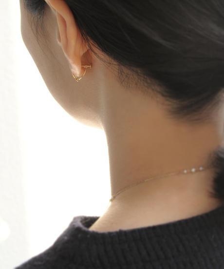 【anq.】K10 ・ペタルフープイヤリング ダイヤモンド Lily of the valley