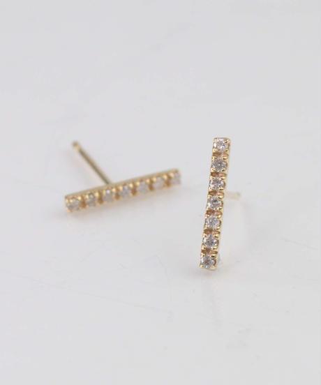 【anq.】K10・0.09ctダイヤモンドピアス