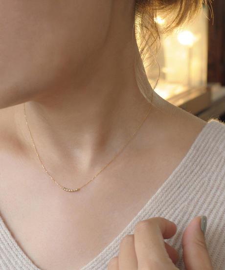 【anq.】K18YG・0.04ctダイヤモンドネックレス「  Lumiere」