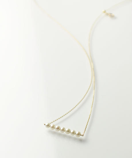 【anq.】K10・Pearl Line ネックレス