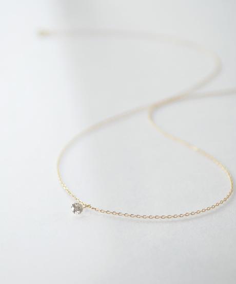 【anq.】K18・レーザーホールダイヤ ネックレス