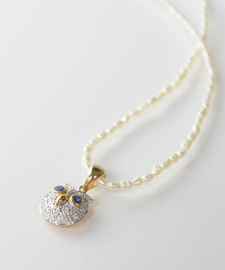 ◇KU-CROISSANT限定◇【LOIS】Owl pearlペンダント