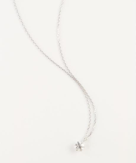 【anq.】 Pt900プラチナ0.2ctダイヤモンド ネックレス