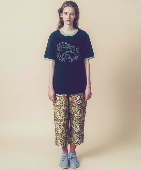 グランドキャニオンの生き物メンズスタイルTシャツ (dark green)