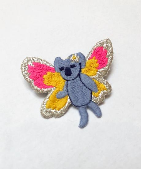妖精コアラの刺繍ブローチ